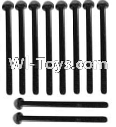 Wltoys 10428-C RC Car Parts-A929-72 Pan head inner hexagon Screws Parts-M3X21-Black zinc plated(10PCS),Wltoys 10428-C Parts