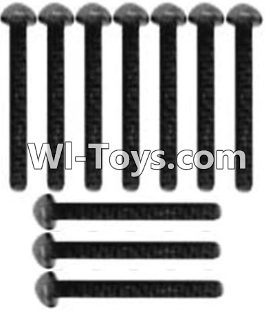 Wltoys 10428-C RC Car Parts-A929-73 Pan head inner hexagon Screws Parts-M3X14-Black zinc plated(10PCS),Wltoys 10428-C Parts