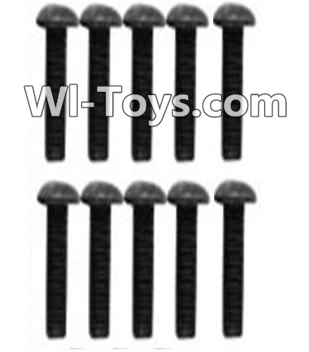 Wltoys 10428-C RC Car Parts-A929-75 Pan head inner hexagon Screws Parts-M3X10-Black zinc plated(10PCS),Wltoys 10428-C Parts
