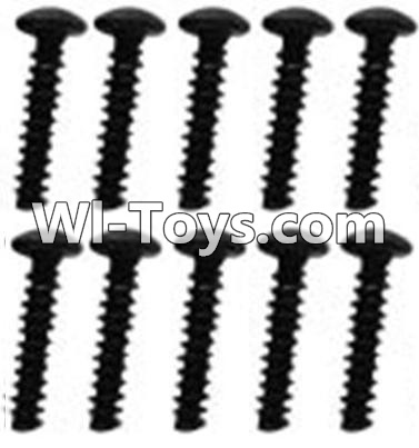 Wltoys 10428-C RC Car Parts-A929-79 Pan head inner hexagon Screws Parts-M3X14-Black zinc plated(10PCS),Wltoys 10428-C Parts