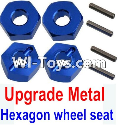 Wltoys 10428-C Upgrade Parts-Upgrade Metal 12MM Hexagon wheel seat Parts,Tire adapter(4pcs)-Dark Blue,Wltoys 10428-C Parts