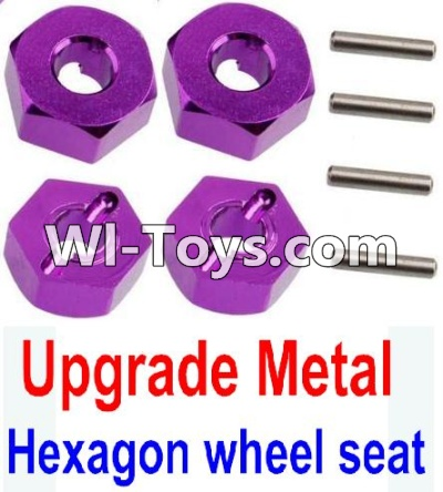 Wltoys 10428-C Upgrade Parts-Upgrade Metal 12MM Hexagon wheel seat Parts,Tire adapter(4pcs)-Purple,Wltoys 10428-C Parts
