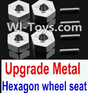 Wltoys 10428-C Upgrade Parts-Upgrade Metal 12MM Hexagon wheel seat Parts,Tire adapter(4pcs)-Silver,Wltoys 10428-C Parts