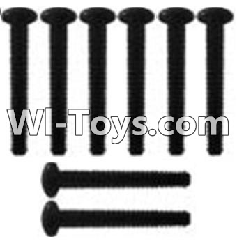 Wltoys 10428-C RC Car Parts-K939-62 Pan head inner hexagon Screws Parts-M3X21-Black zinc plated-M3X25(8PCS),Wltoys 10428-C Parts