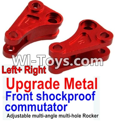 Wltoys 10428-C Upgrade Parts-Upgrade Metal Front shockproof commutator(Left and Right)-Red,Wltoys 10428-C Parts