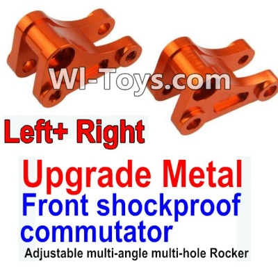 Wltoys 10428-C Upgrade Parts-Upgrade Metal Front shockproof commutator(Left and Right)-Orange,Wltoys 10428-C Parts