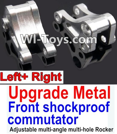 Wltoys 10428-C Upgrade Parts-Upgrade Metal Front shockproof commutator(Left and Right)-Silver,Wltoys 10428-C Parts