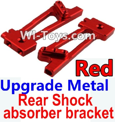 Wltoys 10428-C Upgrade Parts-Upgrade Metal Rear Shock absorber bracket Parts-Red-2pcs,Wltoys 10428-C Parts