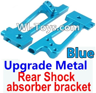 Wltoys 10428-C Upgrade Parts-Upgrade Metal Rear Shock absorber bracket Parts-Blue-2pcs,Wltoys 10428-C Parts