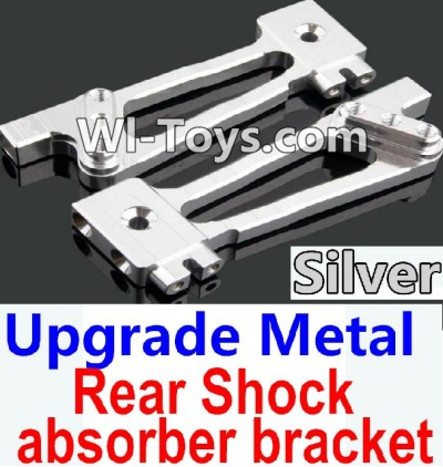 Wltoys 10428-C Upgrade Parts-Upgrade Metal Rear Shock absorber bracket Parts-Silver-2pcs,Wltoys 10428-C Parts