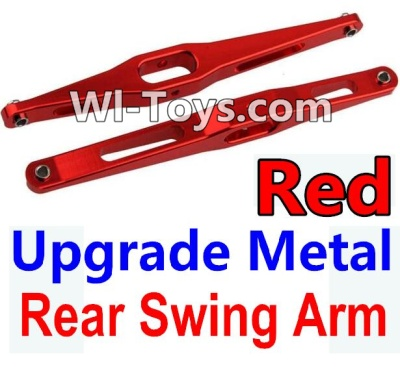 Wltoys 10428-C Upgrade Parts-Upgrade Metal Rear Swing Arm Parts-Red-2pcs,Wltoys 10428-C Parts