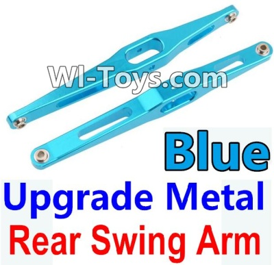 Wltoys 10428-C Upgrade Parts-Upgrade Metal Rear Swing Arm Parts-Blue-2pcs,Wltoys 10428-C Parts