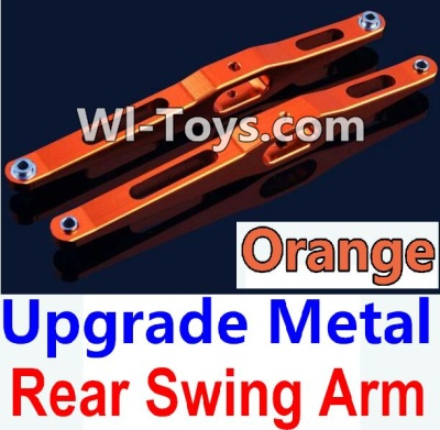 Wltoys 10428-C Upgrade Parts-Upgrade Metal Rear Swing Arm Parts-Orange-2pcs,Wltoys 10428-C Parts