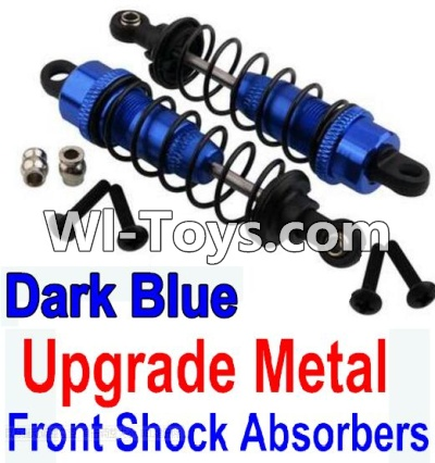 Wltoys 10428-C Upgrade Parts-Upgrade Metal Front Shock Absorbers Parts(2pcs)-Darke Blue,Wltoys 10428-C Parts