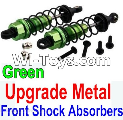 Wltoys 10428-C Upgrade Parts-Upgrade Metal Front Shock Absorbers Parts(2pcs)-Green,Wltoys 10428-C Parts