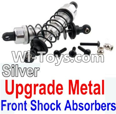 Wltoys 10428-C Upgrade Parts-Upgrade Metal Front Shock Absorbers Parts(2pcs)-Silver,Wltoys 10428-C Parts