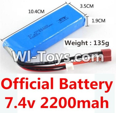 Wltoys 10428-C RC Car Battery Parts-7.4v 2200mah battery with T-shape plug(Size-10.4X3.5X1.9CM)-(Weight-135g),Wltoys 10428-C Parts
