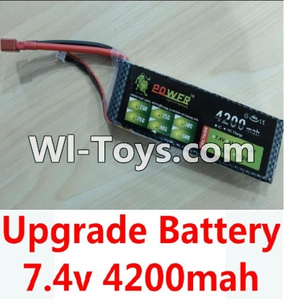 Wltoys 10428-C Upgrade Parts-Upgrade 7.4v 4200mah battery with T-shape plug,Wltoys 10428-C Parts