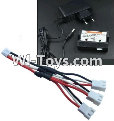 Wltoys 10428-C Upgrade Parts-Upgrade 1-to-3 coversion Charging cable(1pcs) & Charger and Banlance charger,Wltoys 10428-C Parts