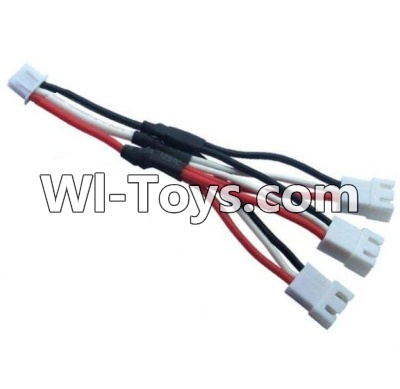 Wltoys 10428-C Upgrade Parts-Upgrade 1-to-3 coversion Charging cable(1pcs),Wltoys 10428-C Parts