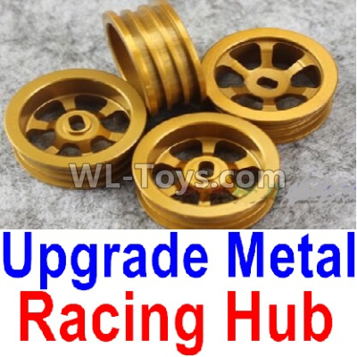 Wltoys P939 Upgrade Metal Racing Hub Parts(4pcs)(Can only match the Racing Tire lether)-Yellow,Wltoys P939 Parts