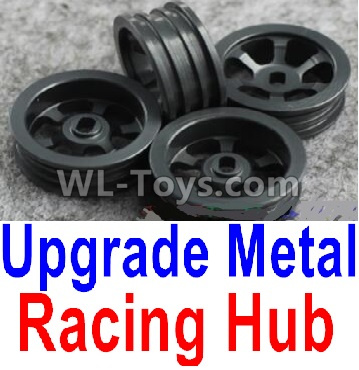 Wltoys K999 Upgrade Metal Racing Hub Parts(4pcs)(Can only match the Racing Tire lether)-Black,Wltoys K999 Parts