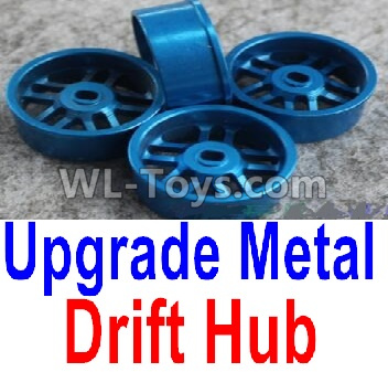Wltoys K999 Upgrade Metal Drift Hub Parts(4pcs)(Can only match the Drift Tire lether)-Blue,Wltoys K999 Parts