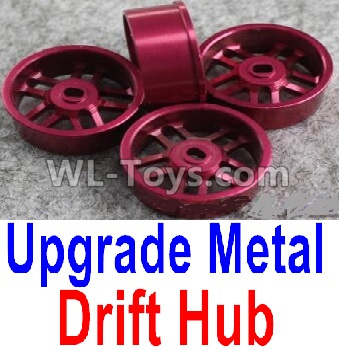 Wltoys P939 Upgrade Metal Drift Hub Parts(4pcs)(Can only match the Drift Tire lether)-Purple,Wltoys P939 Parts