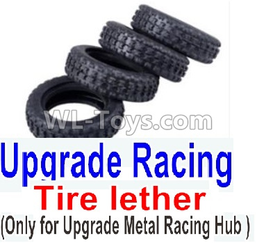 Wltoys K999 Upgrade Racing Tire lether(4pcs)-Can only match the Upgrade Metal Racing Hub,Wltoys K999 Parts