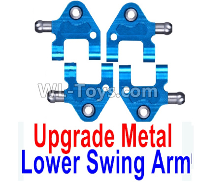 Wltoys K999 Upgrade Metal Lower Swing Arm Parts(4pcs)-Blue,Wltoys K999 Parts