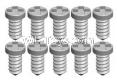 Wltoys P939 RC Car Screws Parts(10pcs)-1.2X3PA-P939-12,Wltoys P939 Parts