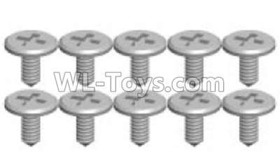 Wltoys P929 RC Car Screws Parts(10pcs)-1.2X3.5SA-P929-13,Wltoys P929 Parts