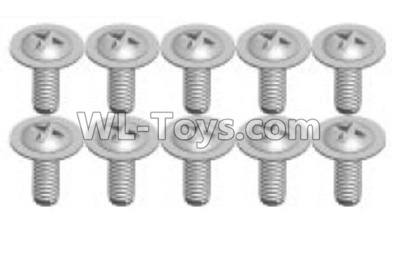 Wltoys P929 RC Car Screws Parts(10pcs)-1.7X8PWA-P929-15,Wltoys P929 Parts