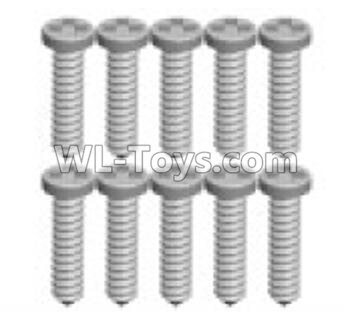 Wltoys P929 RC Car Screws Parts(10pcs)-1.3X7PB-P929-16,Wltoys P929 Parts
