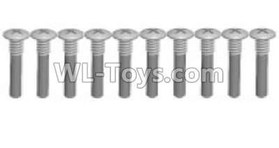 Wltoys K999 screws Parts(10pcs)-M1.5X11PB-Half tooth-K999-17,Wltoys K999 Parts