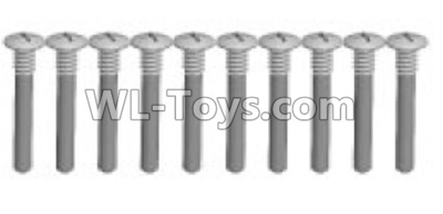 Wltoys K999 screws Parts(10pcs)-M1.5X14PB-Half tooth-K999-18,Wltoys K999 Parts