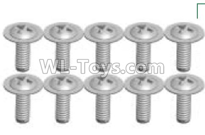 Wltoys P939 RC Car Screws Parts(10pcs)-2X6PWB-P939-23,Wltoys P939 Parts