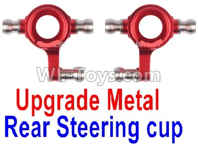 Wltoys P939 Upgrade Metal Rear Steering Cup Parts(2pcs)-Red,Wltoys P939 Parts