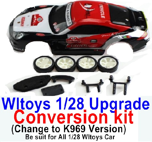 Wltoys K999 Upgrade Conversion kit-Upgrade K969 Version,Be suit for All Wltoys 1/28 Wltoys Car