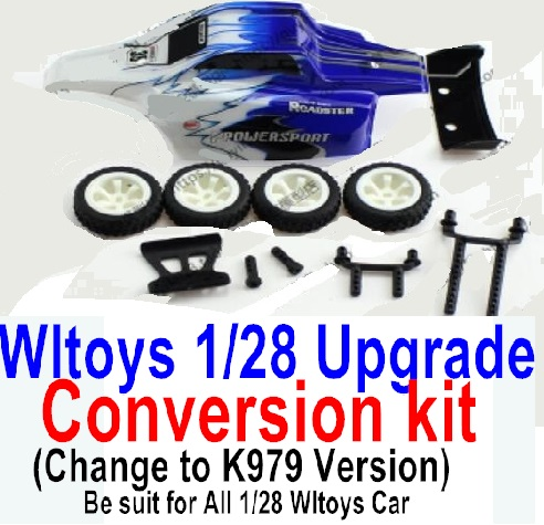 Wltoys P929 Upgrade Conversion kit-Upgrade K979 Version-Blue Color,Be suit for All Wltoys 1/28 Wltoys Car