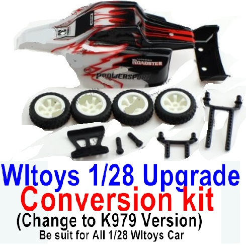 Wltoys P929 Upgrade Conversion kit-Upgrade K979 Version-Red Color,Be suit for All Wltoys 1/28 Wltoys Car