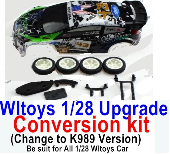 Wltoys P929 Upgrade Conversion kit-Upgrade K989 Version,Be suit for All Wltoys 1/28 Wltoys Car
