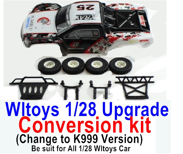Wltoys P929 Upgrade Conversion kit-Upgrade K999 Version,Be suit for All Wltoys 1/28 Wltoys Car