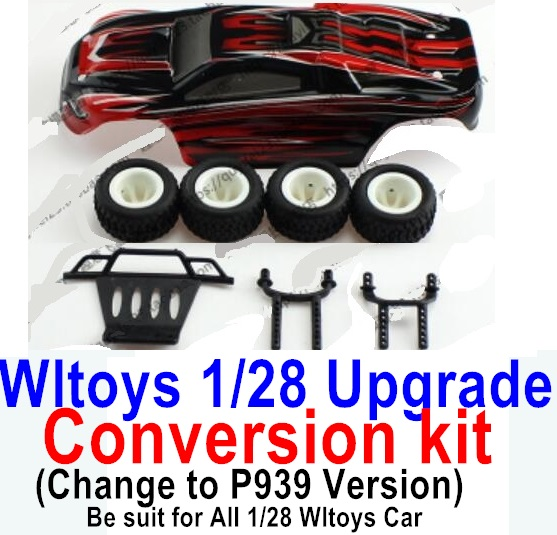 Wltoys P939 Upgrade Conversion kit-Upgrade P939 Version-Red color,Be suit for All Wltoys 1/28 Wltoys Car