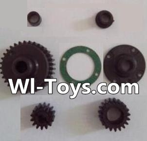 Wltoys L303 RC Car Parts-Transmission gear(Total 7pcs),Wltoys L303 Parts