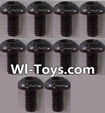 Wltoys L303 RC Car Parts-Countersunk head Hexagon machine screws Parts(10pcs)-M3x10TMHO,Wltoys L303 Parts