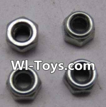Wltoys L303 RC Car Parts-L959-65 M4 lock nut Parts-(4pcs),Wltoys L303 Parts