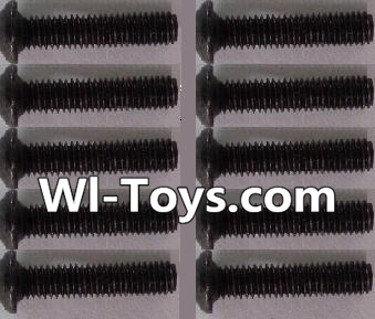 Wltoys L303 RC Car Parts-A929-73 pan head Hexagon head screws Parts(10pcs)-M3x14TMHO,Wltoys L303 Parts