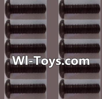 Wltoys L303 RC Car Parts-A929-74 pan head Hexagon head screws Parts(10pcs)-M3x12TMHO,Wltoys L303 Parts
