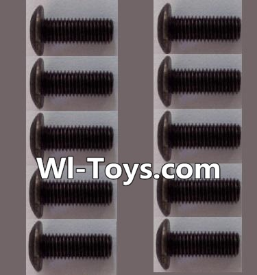 Wltoys L303 RC Car Parts-A929-75 pan head Hexagon head screws Parts(10pcs)-M3x10TMHO,Wltoys L303 Parts